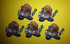 5 Lot Mr Potato Head Iron On Jacket Hoodie Hat Backpack Patches Crests
