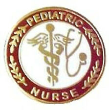 Pediatric Nurse Professional Medical Lapel Pin with Stethoscope Caduceus 111 New