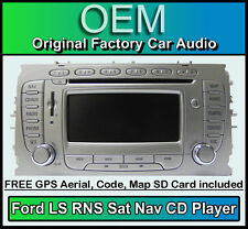 FORD FOCUS SAT NAV STEREO AUTO, FORD LS RNS Lettore CD Radio + CODICE & Map SD CARD