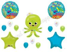 UNDER THE DEEP SEA OCTOPUS Birthday Party Balloons Decoration Supplies Ocean