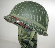 Collectable WWII US Army M1 Green Helmet Replica W/Net Canvas Chin Strap New
