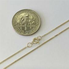 """10K 16"""" Inch .8mm Solid Yellow Gold Ladies Cuban Curb Chain Pendant Necklace"""