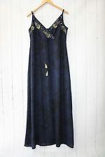 Cream Maxi Kleid Gr 42 Dress ❤ Royal Navy Blue   Boho Hippie   Neu