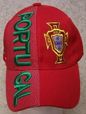 Embroidered Baseball Cap Soccer International Portugal Football Club NEW Red