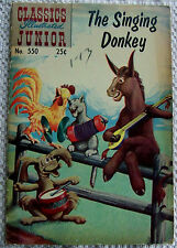 """CLASSICS ILLUSTRATED """"THE SINGING DONKEY"""" by S. CAMPBELL.  1969 ISSUE. (0387)."""