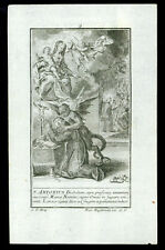 santino incisione 1700 VITA DI S.ANTONIO DA PADOVA 9  engelbrecht