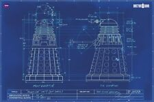 Doctor Who - Dalek Blue Prints TV Poster Print Wall Art Home Decoration
