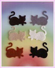 Felt Cats Die Cut Craft Embellishment