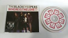 THE BLACK EYED PEAS WHERE IS THE LOVE? MAXI SIGLE CD 4 TRACKS MEGA RARE!!!
