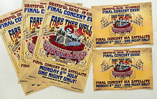 3 X GRATEFUL DEAD 2015 FINAL CONCERT CINEMA FLYERS + 2 POSTCARDS