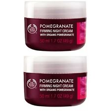 x 2 New~The Body Shop Firming Night Cream Organic Pomegranate 1.7 Oz Full Size