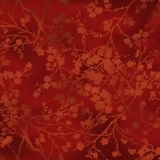 Red Floral Silhouettes,Tonal Dark Red, Grace Tones, Kona Bay (By 1/2 yard)