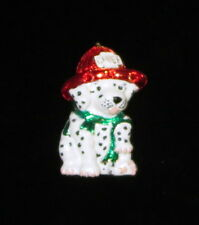 Fireman Dog Pin Dalmations Red Chief Hat Green Scarf Puppies New Fire