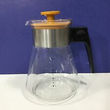 Vintage PYREX Corning Glass 14-Cup COFFEE CARAFE POT Butterscotch Gold Lid