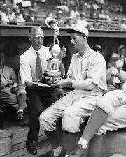 LEFTY GROVE WINS THE MVP TROPHY WITH CONNIE MACK 8x10 HALL OF FAME GREAT