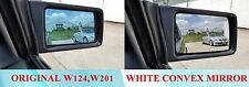 WHITE CONVEX MIRROR GLASS FOR BENZ W124, W201 (WIDER VISION)