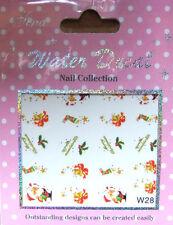 Nail Sticker Weihnacht Glocken-Santa  , water transfer,wasserlöslich,Tattoos W28
