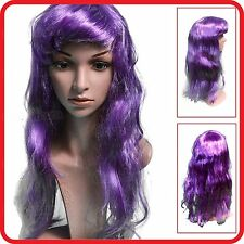 WIG-PURPLE-LONG HAIR-DIVA-HEN'S NIGHT-PARTY-HALLOWEEN-VAMPIRE-WITCH-COSTUME