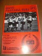 Hayes v Cardiff FA Cup 1990 at Griffin Park