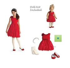 American Girl CL MY AG SET SPARKLE PARTY DRESS SIZE 16 for Girl & Doll Holiday