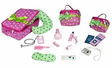 Our Generation Doll Polka Dot Luggage and Travel Accessory Set