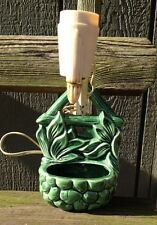 Vintage Mid Century Wishing Well Wall Pocket  Planter Lamp  1950's