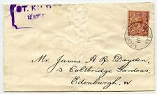 "St Kilda RARE 1931 ""Mail Boat"" cover to Edinburgh with Steamer Co. label"