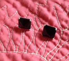 SILPADA P3038 Pyramid Sterling Silver Black Agate Stud Earrings NEW W/O BOX