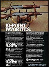 1978 REMINGTON 752 Woodmaster and 760 Gamemaster Rifle AD Gun Advertising