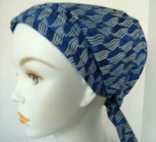 Navy Blue Cancer Chemo Hat Alopecia Hairloss Scarf Turban Headwrap Bad Hair Day
