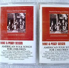 Mike & Peggy Seeger American Folk Songs For Children 2 Cassette Tape Set Rounder