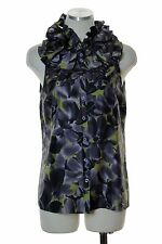 J.CREW $88 Factory Kelsey Ruffle Top Silk Watercolor Floral Blouse Size 4