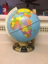 Vintage Ohio Art Co Tin Globe with Zodiac signs on base