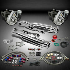 T04 .63AR 500+HP 12PC TWIN TURBO CHARGER+MANIFOLD KIT FOR CHEVY SMALL BLOCK SBC