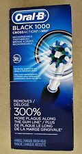 New Oral-B Professional 1000 BLACK Rechargeable Toothbrush CrossAction Free Ship