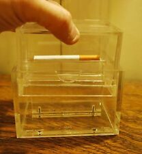 RARE Vintage Mid Century Tabletop RYO LUCITE Kings or 100s Cigarette Dispenser