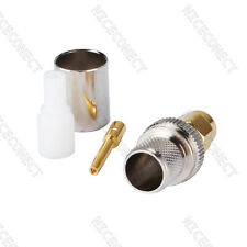 RP-SMA Crimp Plug male (female pin) RF connector for LMR400 RG8 RG213 cable