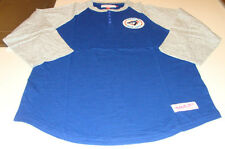 Toronto Blue Jays MLB Baseball 3/4 Button Down T Shirt Mitchell Ness Medium Logo