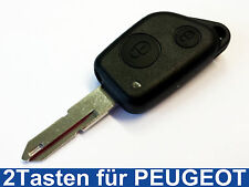 2Tasten Schlüssel Fernbedienung Gehäuse Rohling für Peugeot 106 206 306 405 406