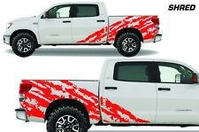 Vinyl Decal Shred Wrap Kit for Toyota Tundra TRD Crew Cab 2007-2013 Light Red