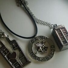 Dr Who & Percy Jackson necklaces