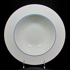 "Crate & Barrel Epoch BLUE LINE 11"" Round Vegetable Serving Bowl Kathleen Wills"