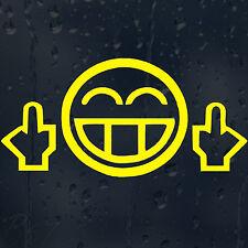 JDM Smiley Face Drôle pare-chocs Fenêtre Téléphone Portable Mur Autocollant Vinyle Autocollant