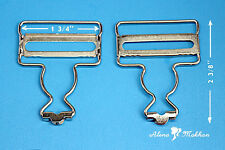 10 pc Nickel Dungaree Fastener Overall Clip Suspender Buckle Strap Adjuster