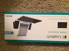 Brand new LOGITECH wireless bluetooth Keyboard for iPad and other tablet & stand