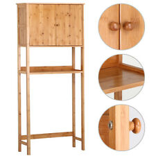 Bathroom Over The Toilet Space Saver Bamboo Storage Cabinet Shelf Organizer New