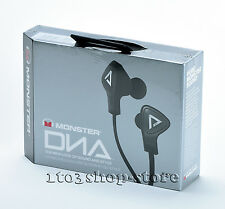 Monster DNA In-Ear Headphones Headset w/Mic Apple ControlTalk Pouch Black Noir