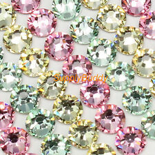 Swarovski Flatback Crystal ss12 Mix Color Jonquil Chrysolite Light Rose Nail Art