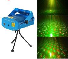Mini RG Laser Stage Holographic Star Shower Light Voice Activated Projector