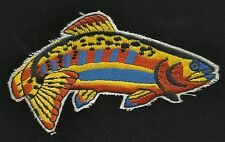 "Rainbow Trout Fish 5"" Fishing Collectors Patch - New Old Stock"